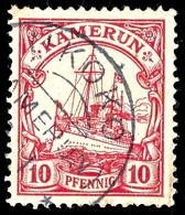 UKOKO Sehr Klarer Abschlag Auf 10 Pfennig Kaiseryacht, Geprüft Pauligk, Seltene Und Gesuchte Abstempelung, ARGE 100,-, K - Colonie: Cameroun