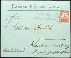 """Seepost Linie Hamburg Westafrika Kennzahl XIX  - 4 10 03 - Auf Geschäftsbrief ,Randad & Stein, Longji""""mit 10 Pfennig Nac - Colonie: Cameroun"""