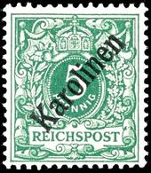 """5 Pfennig Krone/Adler Mit Diagonalem Aufdruck """" Karolinen """", Postfrisch Mit Winziger Gummifreier Stelle, Selten, Geprüft - Colonie: Carolines"""