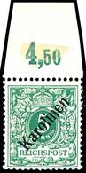 """5 Pf Diagonalaufdruck Tadellos Ungebraucht Mit Sauberer Falzspur, Fotobefund Dr. Hartung: """"einwandfrei"""", Mi. 750.-, Kata - Colonie: Carolines"""