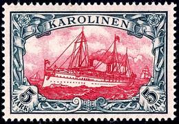 5 Mark Kaiseryacht, Tadellos Postfrisch, Geprüft Bothe BPP, Mi. 700,-, Katalog: 19 ** - Colonie: Carolines