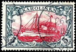 5 Mark Kaiseryacht, Tadellos Gestempelt, Mi. 600,-, Katalog: 19 O - Colonie: Carolines