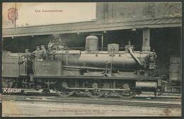 """Les Locomotives - Machine De Gare N°3703 Dite """"Mammouth"""" De Type 030 - F. Fleury - Voir 2 Scans - Treni"""