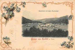 SEEFELD IN TIROL AUSTRIA ~ SEEFELD Mit Dem HOCHEDER~1902 FRANZL ORNATE BORDER PHOTO POSTCARD 48673 - Seefeld
