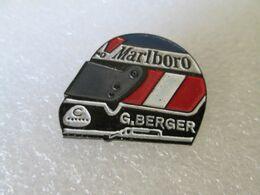 PIN'S   CASQUE    GERHARD  BERGER - F1