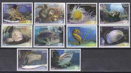 Griechenland Hellas 2012 - Mi.Nr. 2648 - 2657 - Postfrisch MNH - Tiere Animals Fische Fishes - Vissen