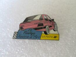PIN'S    PEUGEOT  309 GTI 16   LA POSTE   RALLYE JEANNE D ARC - Peugeot