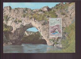 """France, Carte Maximum Du 12 Juin 1971 à Vallon-pont-d'arc """" Pont Naturel Sur L'Ardèche """" - 1970-79"""