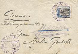 "GUINEA. Ø 173 En Carta De Bata A Alemania, El 13/5/1929. Mat. Fechador ""BATA/GUINEA ESPAÑOLA"" En Violeta Que Se Repite E - Guinea Española"