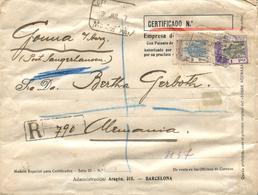 "GUINEA. Ø 167 Y 176 En Carta Certificada De Santa Isabel A Alemania, El 30/7/1927. Mat. ""CERTIFICADO/SANTA ISABEL/FERNAN - Guinea Española"