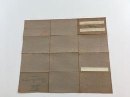 1907 Carte Etat Major Toilée Charleroi Planche XV Nivelles Genappe Binche Ittre Wavre Gembloux Temploux Limal Lasne - Landkarten