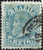 "BRAZIL # 048 -  EMPEROR DOM PEDRO Ll  -  50R$ Blue ""  CABEÇA PEQUENA""  1881  - USED - Neufs"