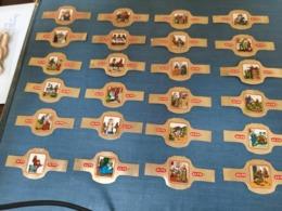 24 Sigarenbanden Alto Uylenspiegel Compleet Complete Serie Vitolas - Bauchbinden - Bauchbinden (Zigarrenringe)