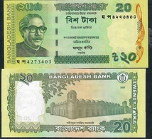 BANGLADESH P55Ai 20 TAKA 2020       UNC. NO P.h. ! UNC. ! - Bangladesh