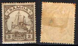 "SAMOA - PROTETTORATO TEDESCO - 1900 - Kaiser's Yacht ""Hohenzollern"" - MH - Colonie: Samoa"