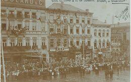CHARLEROI : Superbe Et Rare Carte Photo - Visite Du Prince Albert Et De La Princesse Elisabeth En 1905 Cachet Poste 1905 - Non Classés