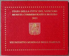 VA20015.1 - COFFRET VATICAN - 2015 - 2 Euros Commémo. 8e Rencontre Mondiale Des Familles - Vatican