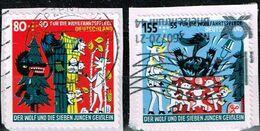 Bund 2020,Michel# 3524 + 3526 O  Wohlfahrtsmarken 2020 : Der Wolf Und Die Sieben Geißlein - [7] Federal Republic