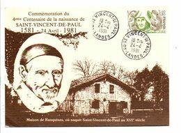 SAINT VINCENT DE PAUL LANDES 1981 - Commemorative Postmarks