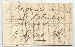 SAONE ET LOIRE MARQUE 70 LA MASION BLANCHE 1828  DATEUR LETTRE POUR RIVES ISERE - Storia Postale