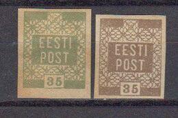 Estonie 1918 Yvert 3 Et 3 B * Neufs Avec Chaniere. - Estland