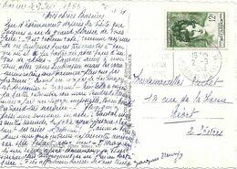 TIMBRES N° 875    -  MME RECAMIERE   - SEUL SUR LETTRE  - TARIF 6 1 49     -  1953 - Postal Rates