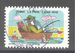 France Autoadhésif Oblitéré (Espace Soleil Liberté N°10) (cachet Rond) - Usati