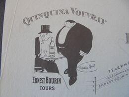 FACTURE - 37 - DEPARTEMENT DE L'INDRE ET LOIRE - TOURS 1910 - QUINQUINA VOUVRAY : ERNEST BOURIN - Non Classificati