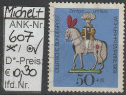 "1969 - BRD - SM Aus Satz ""Wohlfahrtspflege-Alte Zinnfiguren"" 50+25 Pfg Mehrfärbig  (607o   Brd) - [7] Repubblica Federale"
