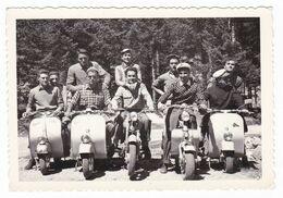 MOTO SCOOTER -  VESPA - LAMBRETTA  - ALTRA MOTO   - FOTO ORIGINALE COGNE  1954 - Automobili