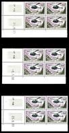 ** N°37, 1000F Alouette, 3 Blocs De 4 Cdf Daté De 1957, 1958 Et 1959, TTB - Poste Aérienne