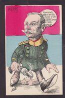 CPA Serbie Pierre Roi Royalty Caricature Satirique Non Circulé Dessin De Mille - Serbia