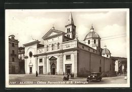 Cartolina Alassio, Chiesa Parrocchiale Di S. Ambrogio - Other Cities