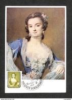 ALLEMAGNE - DDR - Carte Maximum - BERLIN W8 - Rosalba Carriera - Die Tänzerin Barbarina Campani - 1957 - [6] République Démocratique