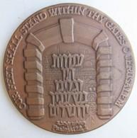 Israel Medaille Gates Of Jerusalem / Portes De Jérusalem 1981, Par Nathan Karp, Tidhar Dagan - Other
