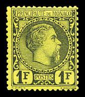 * N°9, 1f Charles III, Quasi **, Fraîcheur Postale. TTB. R. (certificat) - Monaco