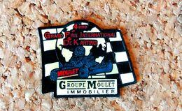 Pin's KART 4° GP International De KARTING 1992 MOULET - Verni époxy - Fabricant Inconnu - Rallye
