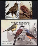 Kosovo - 2019 - Europa CEPT - National Birds - Mint Stamp Set + Souvenir Sheet - Kosovo