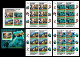 NIGER 2020 - J. Verne, Diving. Complete Set - Tauchen