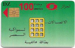 Algeria - PTT/Monetel - Les Télécommunications, Gem1A Symmetr. Black Afnor, With Transp. Moreno, 1996, 100Units, Used - Algeria