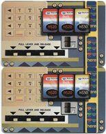 Namibia - Telecom Namibia - Vending Machine (FV Green), (2 Different CN. Short & Long), Solaic, 2000, 10$, Used - Namibie