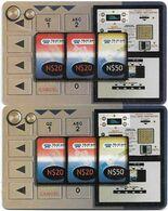 Namibia - Telecom Namibia - Vending Machine (FV Red), (2 Different CN. Short & Long), Solaic, 2000, 10$, Used - Namibie