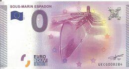 BILLET TOURISTIQUE  SOUS MARIN ESPADON - EURO