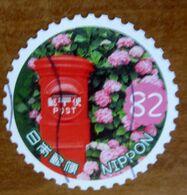 2017 GIAPPONE Fiori Flowers Fleurs  Hydrangea And Post Box - 82 Y Usato Francobollo In Tondo - Gebruikt