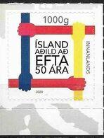 ICELAND, 2020, MNH, 50th ANNIVERSARY OF ICELANDIC MEMBERSHIP IN EFTA, FREE TRAD ORGANIZATIONS,1v - Sonstige