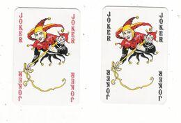 LOT  De  2  Cartes à Jouer  ( 2 JOKER ) / 1 Rouge + 1 Noir - Autres