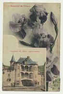 Souvenir De Thiers - Fleurs Iris - Château De Moutiers - Thiers