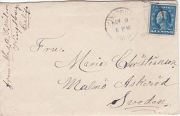 Letter From USA (Kingsburg) To Malmo (Sweden) - Unclassified