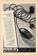 Raselet Ducati / Lenti Salmoiraghi. Advertising  1946, Fronte Retro - Advertising