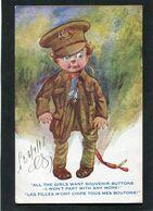 CPA - Illustration - Les Filles M'ont Chipé Tous Mes Boutons - Guerra 1914-18